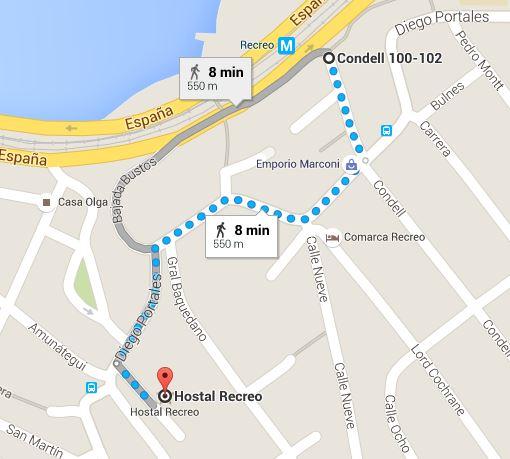 30 Metro Estacion Recreo - Hostal Recreo v0